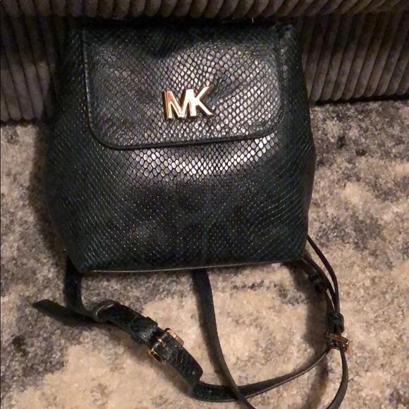Michael Kors MOTT leather backpack racing green